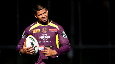 Origin beckons: Brisbane prop Payne Haas.