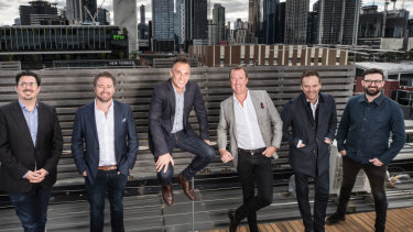 Paul Giorgilli, Simon Kent, Antony Catalano, Travis Day, Trent Casson, Barrie Bowles are launching a property business called Today.