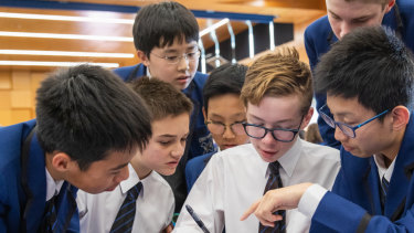 A decathlon team at Knox Grammar School pool their problem-solving talents.