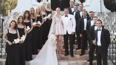 Karl Stefanovic and Jasmine Yarbrough were married at the One & Only Palmilla resort in Cabo Mexico.