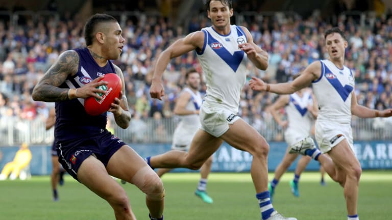 Michael Walters was a rare winner for Fremantle at Optus Stadium on Sunday.