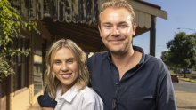 Booming in Nagambie: Wine bar owners  Andy Peters and Crystal Kimber