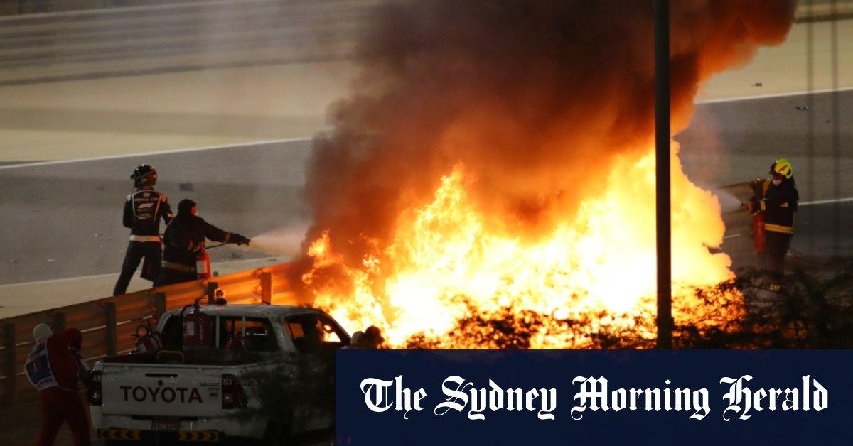 'I saw death coming': Grosjean relives fiery Formula One crash – Sydney Morning Herald
