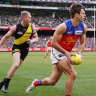 Packed to the rafters: A big crowd was in attendance at the MCG to watch Richmond take on Brisbane in the last home-and-away round of the year.