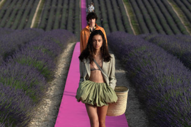 Fields of gold ... images of Provence at the Jacquemus show this week have captured the wunderlust of the world.