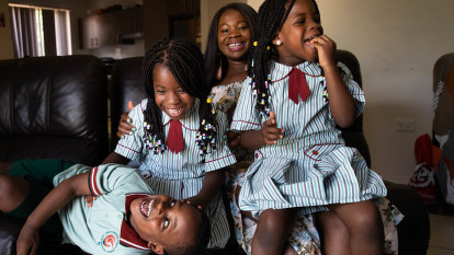 Beginning school heralds a brighter future for Philomina's triplets