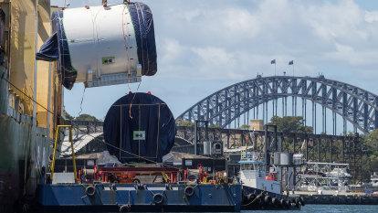 Under wraps: Sydney's first rail tunnel dug beneath harbour
