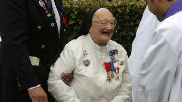 Sister Agnes-Marie Valois pictured in 2012.