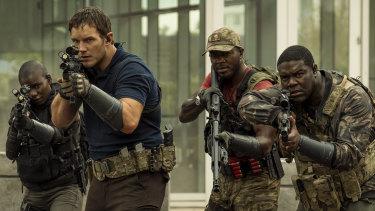 Chris Pratt, Edwin Hodge and Sam Richardson star in <i>The Tomorrow War.
