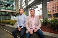 Replacing hate with compassion: Robert Orell and Tony McAleer.