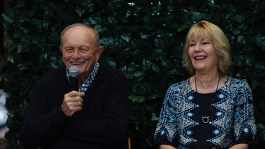 Harvey Norman chairman Gerry Harvey and chief executive Katie Page.