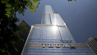 The Trump International Hotel & Tower in Chicago.