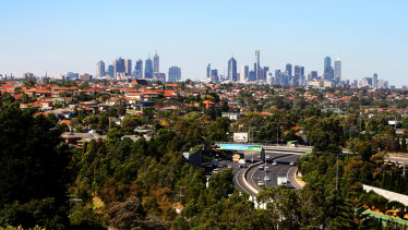 Parts of Melbourne could see falls in house values of up to 11 per cent, according to Moody's Analytics.