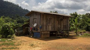 The girl's family home in Gua Musang town in Kelantan, Malaysia.