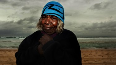 Yuwali visits Bondi Beach during her first trip to Sydney, 2009.