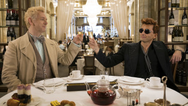 Aziraphale (Michael Sheen) and Crowley (David Tennant) have spent too long away from the moral absolutes of their ethereal homes, and developed a taste for the good life.