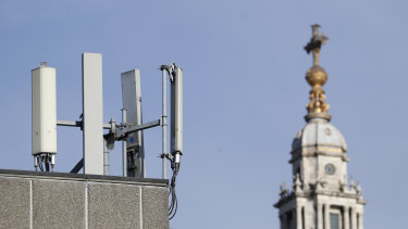 Core or edge? Mobile network phone masts are visible in front of St Paul's Cathedral in the City of London.