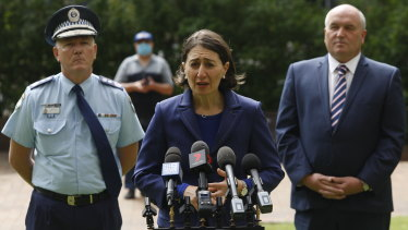 """If those numbers go up at a rate with which we're not comfortable, we will have to put in stricter measures"": Gladys Berejiklian."
