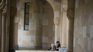 UQ plans for study to be online for the rest of the year.