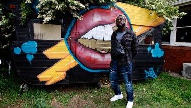 Hip-hop artist Kwame at his Baulkham Hills home.