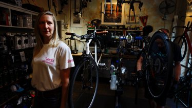 Chainsmith Bike Shops is pushing through up to six more bikes a day than usual.