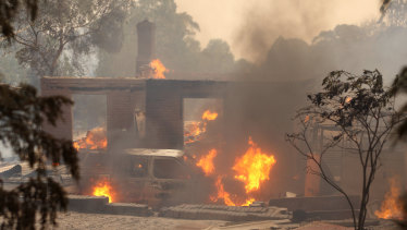 A house lost to the flames in Whittlesea.