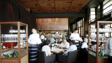 Rockpool Bar and Grill shortly after it opened at the Crown complex in Melbourne in December 2006.