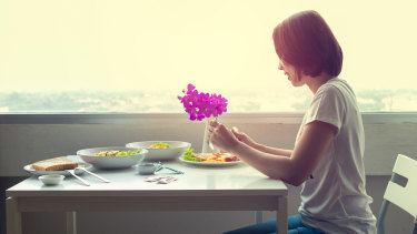 Eating alone can be a joyous experience: you're worth it.