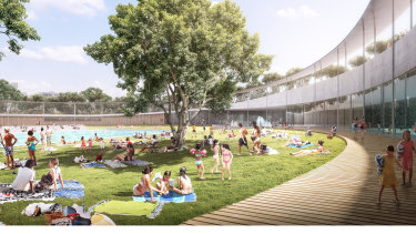An artist's impression of the new Parramatta pool.