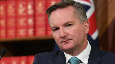 Chris Bowen has an autographed copy of Paul Keating's speeches on his desk.