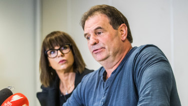 """CFMMEU secretary John Setka with his wife Emma Walters, who said the """"Get Setka"""" campaign had taken its toll on the couple."""