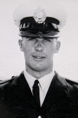 Wayne Laver as a young cop.