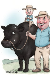 Barnaby Joyce has been investing in beef for his son, Sebastian.