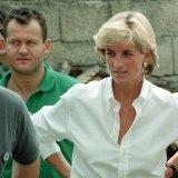 Princess Diana meeting Bosnian Serbs and Muslims affected by landmines.