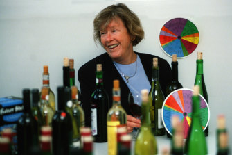 Ann Noble and her wine aroma wheel in 1999.