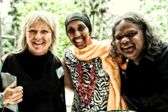 Jane Tewson with Mariam Issa and Russell Smith of Igniting Change, 2011.