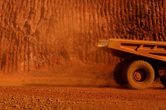 Iron ore spot prices surged amid easing concerns over the implosion of Chinese real estate giant Evergrande.