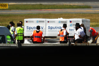 The first shipment of the Sputnik vaccine arrived in Argentina on Christmas Eve.