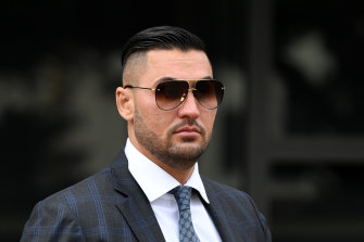 Salim Mehajer during a break at Parramatta District Court on Tuesday.