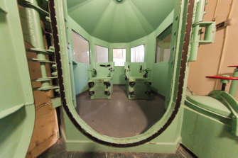 Death-penalty chamber chairs before their removal from San Quentin State Prison in California, where a moratorium was placed on the death penalty in March.