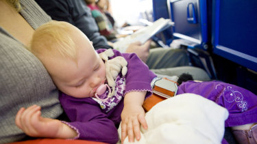 Endurance test ... flying with a baby isn't for the faint hearted.