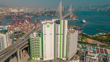 Goodman Group's vertical  Interlink warehouse, Hong Kong.