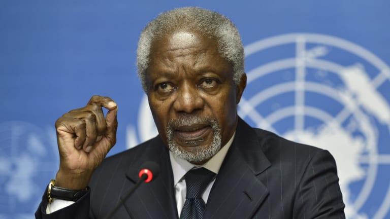 Spoke softly but carried weight: Kofi Annan.
