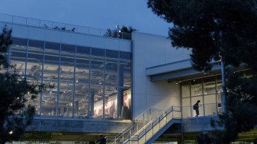 "The Facebook ""campus"" in Menlo Park, California."