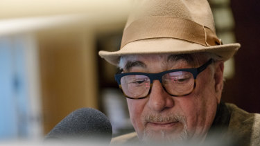 Michael Savage hosts his conservative talk radio show from his home in Tiburon, California.