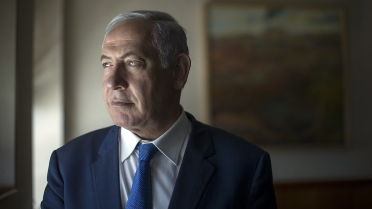 'The weak are erased from history': Israeli Prime Minister Benjamin Netanyahu.