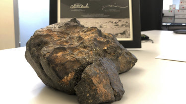 The lunar meteorite was discovered in Mauritania in 2017.