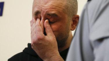 Arkady Babchenko was visibly upset when speaking.