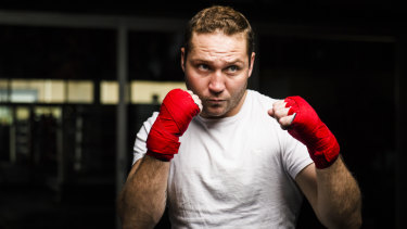 Abe Archibald fights out of the revamped Stockade Training Centre.