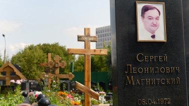 Magnitsky's grave in the Preobrazhensky cemetery in Moscow.
